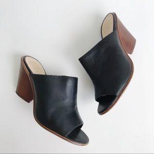 Vince Camuto Dormina Mule Black Leather Cone Heel
